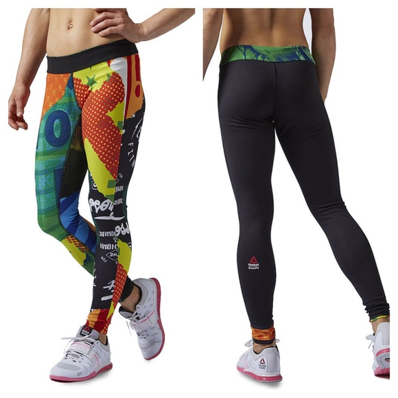 0e4bb373 [Reebok] Reversible Chase CrossFit Workout Tights NWT